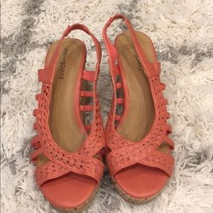 Shoes - Pink Wedge Sandals